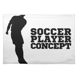 Concept Silhouette Soccer Player Placemat