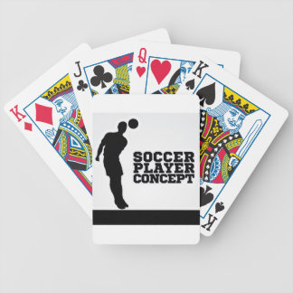Concept Silhouette Soccer Player Poker Deck