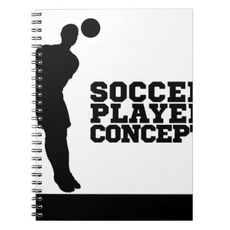 Concept Silhouette Soccer Player Spiral Notebook