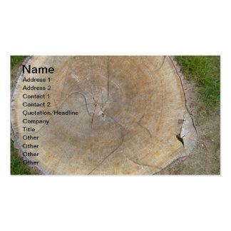 Concepteur aménageant des cartes de visite en parc carte de visite standard