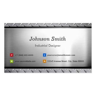 Concepteur industriel - regard élégant de platine carte de visite standard
