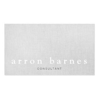 Concepteur minimaliste moderne gris-clair simple carte de visite standard
