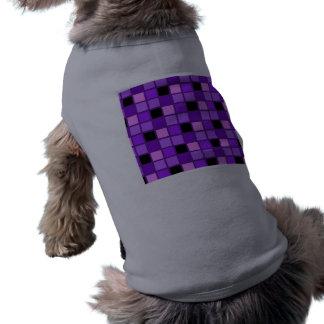 Concepteur pourpre de harlequin de lavande de tee-shirt pour toutou