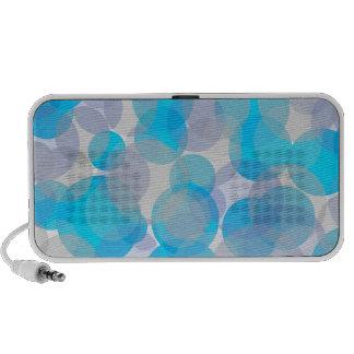 Conception abstraite de cercles de bleu haut-parleur ordinateur portable
