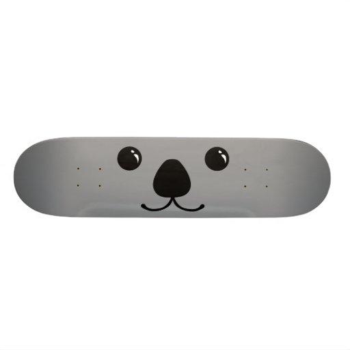 Conception animale mignonne de visage de koala gri planches à roulettes customisées