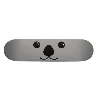Conception animale mignonne de visage de koala gri skateboard