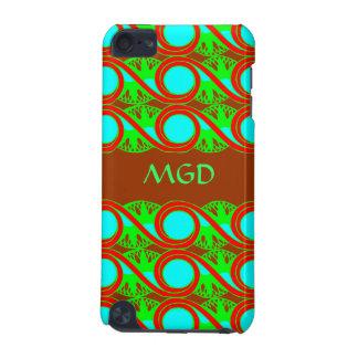 Conception au néon d'art déco de vert bleu et de r coque iPod touch 5G