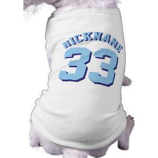 Conception blanche et de bleu des animaux tee-shirts pour animaux domestiques
