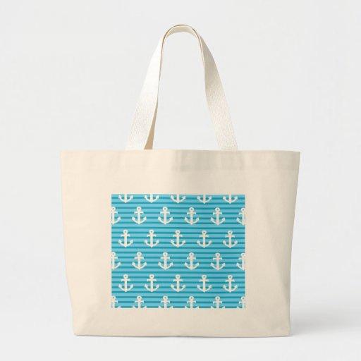 Conception bleue d'ancre sacs en toile