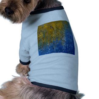 Conception bleue et en bronze abstraite tee-shirt pour toutou