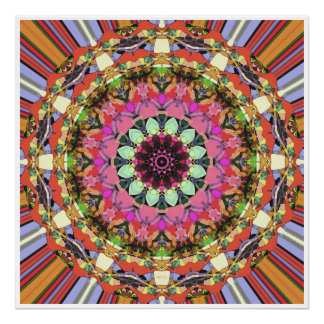 Conception colorée de mandala poster