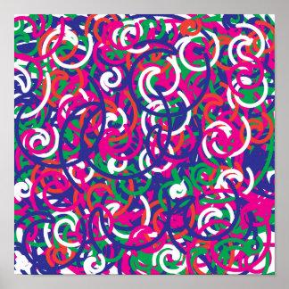 Conception colorée de motif de griffonnages
