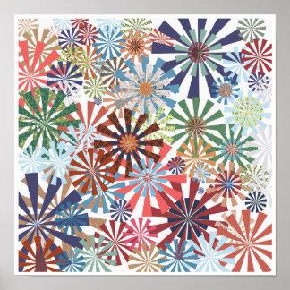 Conception colorée de soleil d'éclat de radial de poster