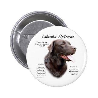 Conception d histoire de labrador retriever choco badge