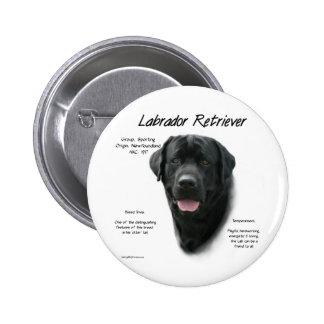 Conception d histoire de labrador retriever noir badge