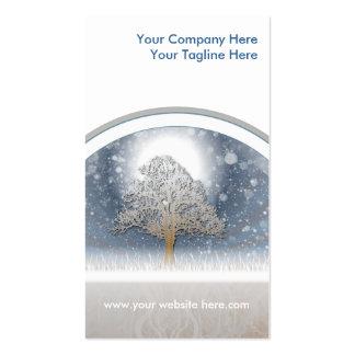 conception d hiver modèle de carte de visite