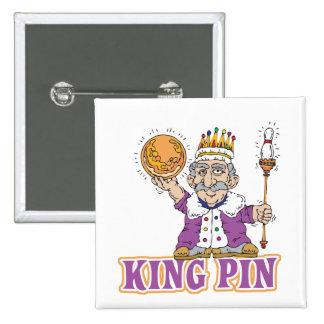 conception d humour de bowling de goupille de roi pin's avec agrafe