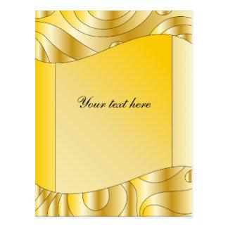Conception d or de fête avec des rayures carte postale