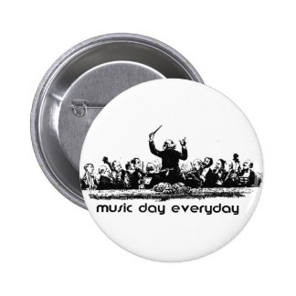 Conception d orchestre pour le jour de musique badge avec épingle