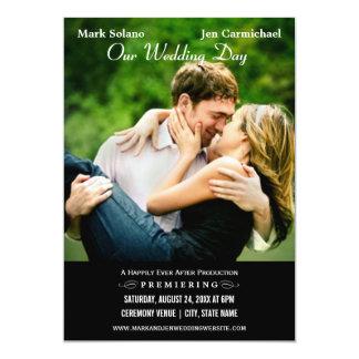 Conception d'affiche de film de la carte | de carton d'invitation  12,7 cm x 17,78 cm
