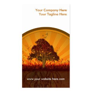 conception d'automne cartes de visite personnelles