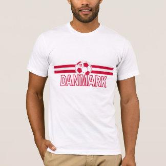 Conception de ballon de football du Danemark T-shirt