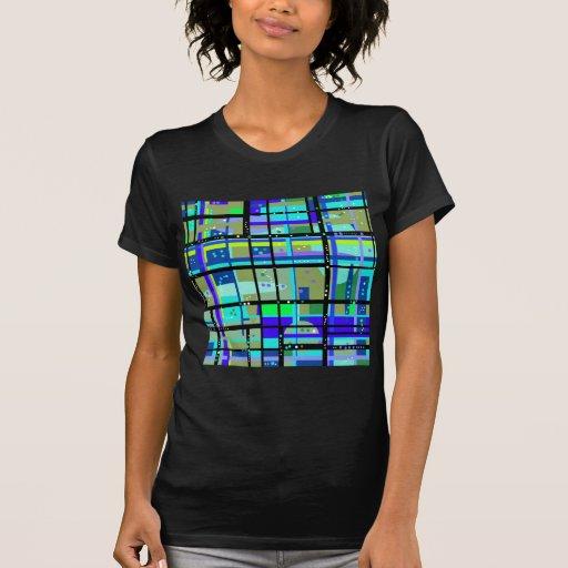 Conception de bleus d'Abstract1950s T-shirts