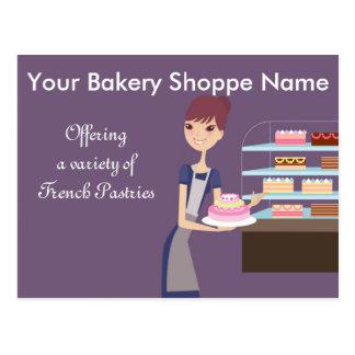 Conception de boulangerie/magasin de pâtisserie 4 cartes postales