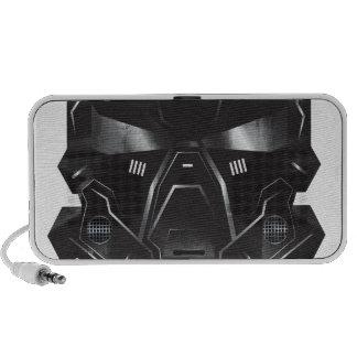 conception de casque d'art de concept de geek de haut-parleurs mp3