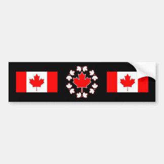 Conception de cercle de feuille d'érable du Canada Autocollant De Voiture