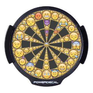 conception de cible d'Emoji-art, jaune et noir Décalcomanie Pour Fenêtre LED