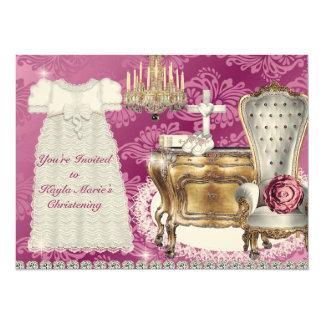 CONCEPTION de DAMASSÉ de ROSE vintage d'invitation Carton D'invitation 13,97 Cm X 19,05 Cm