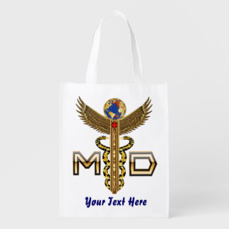 Conception de docteur Medical Logo VIEW ABOUT Sacs D'épicerie Réutilisables