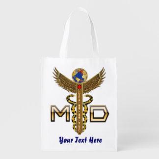 Conception de docteur Medical Logo VIEW ABOUT Sac Réutilisable D'épcierie