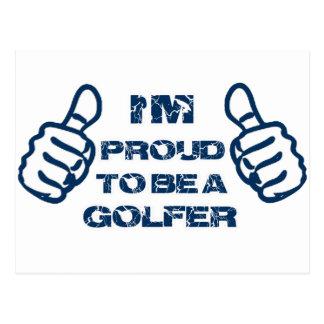 Conception de golfeur carte postale