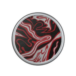 Conception de marbre rouge et noire haut-parleur bluetooth