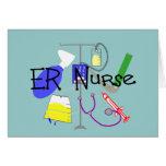 Conception de matériel médical d'infirmière d'ER Cartes De Vœux