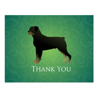 Conception de Merci de rottweiler Cartes Postales