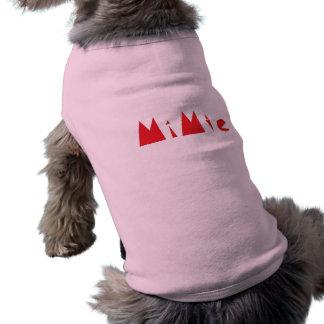 Conception de Mimie Tee-shirt Pour Animal Domestique