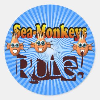 Conception de Monkees de singes de mer Sticker Rond