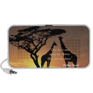 Conception de nature de girafes de citation de Col Haut-parleurs iPhone