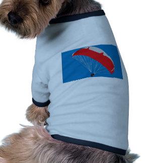 Conception de parapentiste tee-shirts pour toutous
