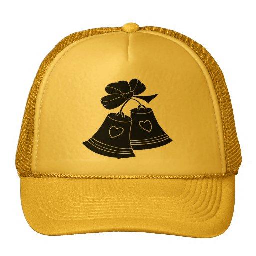 Conception de silhouette avec des cloches casquettes de camionneur