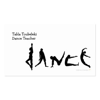 Conception de silhouette de danse de danse carte de visite standard