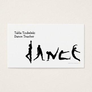 Conception de silhouette de danse de danse cartes de visite