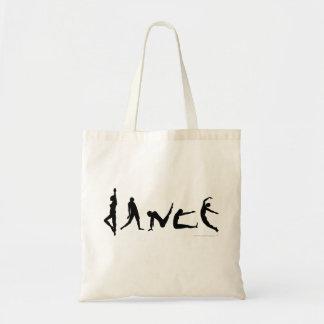 Conception de silhouette de danse de danse sac en toile budget