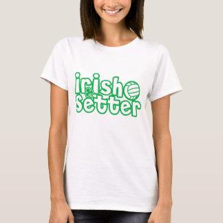 Conception de volleyball de poseur irlandais t-shirt