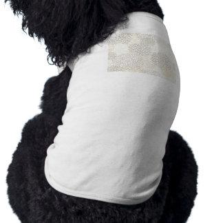 Conception d'éclat d'argile et de fleur blanche manteau pour animal domestique