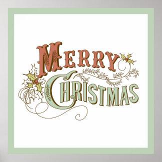 Conception des textes de fantaisie de Joyeux Noël Poster