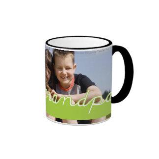 Conception des textes de vert de photo de grand-pa mug ringer